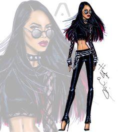 #Hayden Williams Fashion Illustrations #Aaliyah 13th Anniversary by Hayden Williams
