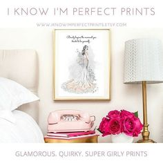 In love with girly home decor? Enjoy discovering quirky Etsy Finds in your spare time?? Then this little Etsy Print shop is definately something you should check out!! 1) Simply Find the print you love.    2) Download it and print it yourself or have me shi