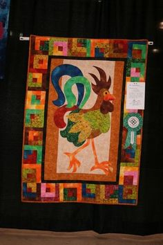 Of course I like this, quilting AND chickens:)