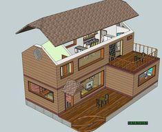 전원주택 건축시 20가지는 챙겨보고 시작하자 - ★부동산관련서식/자료 - 토지사랑모임카페 Minecraft Houses, Sims, Floor Plans, Draw, Flooring, How To Plan, Architecture, Building, Room