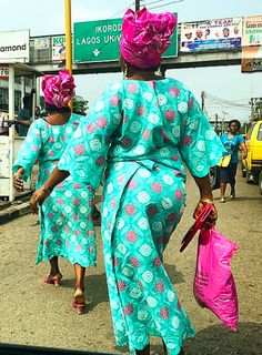Street style this afternoon in Lagos.