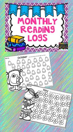 Looking for a way to keep track of your student's reading? These cute monthly reading logs allow you to do just that!  Each night the child reads, they simply color a coordinating picture and at the end of the month, if all of the pictures are colored in, they can earn a reward of your choice.  Send these home at the start of the month or keep them at school in a folder where students can track their reading for the month.
