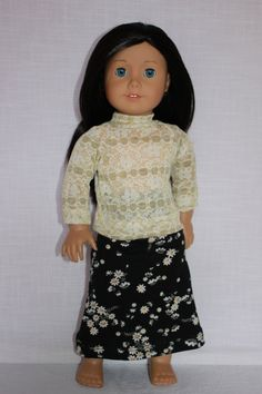 18 inch doll clothes lace look ivory and gold by UpbeatPetites