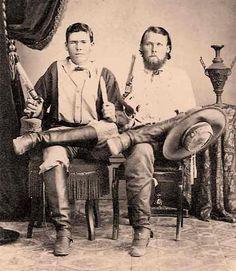 Texas Rangers James Thomas Bird and John J. Haynes 1868