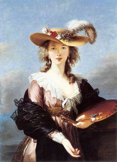 Elisabeth Vigée-Lebrun, Self-Portrait in a Straw Hat, after 1782, oil on canvas, 98 x 70 cm (National Gallery, UK)
