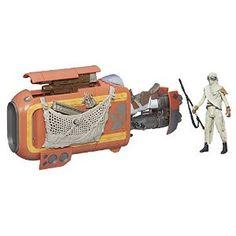 Star Wars The Force Awakens 3.75-inch Vehicle Rey's Speeder Bike (Jakku) from Star Wars Disc: Affiliate Link