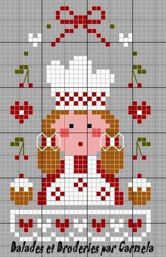 chef hama perler beads pattern
