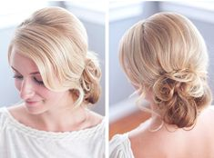 The bridal chignon style is a great choice for your #wedding day! #hairstyle #bride