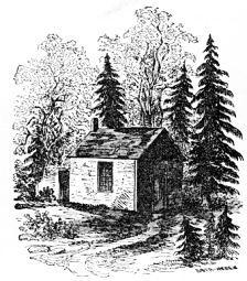 Henry's Walden cabin, drawn by Sophia Thoreau