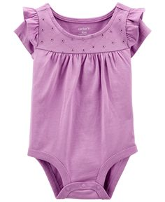 Purple baby and toddler romper suit  bubble romper cotton purple fabric  short or long sleeves  size nb 3 6 12 18 mths 2T