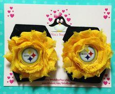 Pittsburgh Steelers barefoot sandals newborn by AnisasBowtique, $8.00