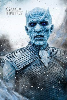 Game of Thrones Night King Poster TV Show Series Print Wall Art Large Maxi Costumes Game Of Thrones, Art Game Of Thrones, Jaime Lannister, Sansa Stark, Game Of Throne Poster, Dragon Rey, Game Of Thrones Instagram, Deco Panel, Poster Online