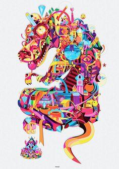 rainbow by Yo Az, via Behance