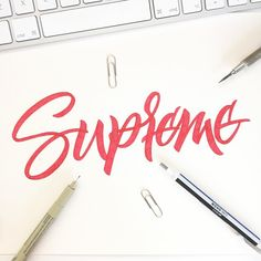 294/365 Supreme  This should have been last nights piece but wanted to do it this morning. Enjoy doing these pieces in the morning as it gets me motivated for the rest of the day. It definitely makes a change doing something first thing rather than doing nothing before the day starts. by ligatures