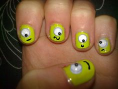 Mike wizowski!!!! Adorable for kids or halloween...or ok, maybe I just want to do this to myself right now