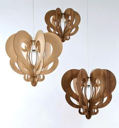 Suspended lamps designed and made in Tasmania by designer Loz Abberton