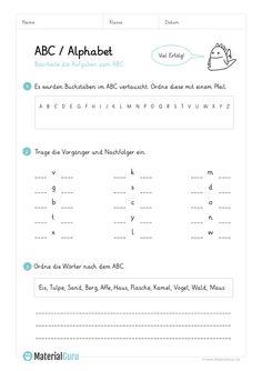 NEU: Ein kostenloses Deutsch-Arbeitsblatt zum Buchstaben B für die ...