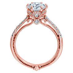 Verragio Couture-0429DR 14 Karat Rose Gold Engagement Ring Starting around - $3,550