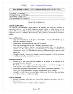 Preview this Course MCAT Biology Study Sheets