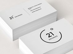 21 Degrees Business Card logo minimal corporate design black white graphic by myra Business Card Maker, Minimalist Business Cards, Cool Business Cards, Creative Business, Company Business Cards, Vertical Business Cards, Business Card Logo, Corporate Design, Graphic Design Branding