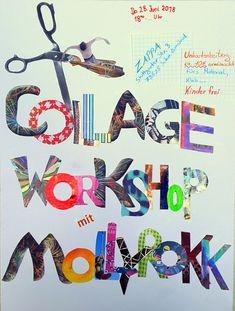 Collage Workshop Collagen, Workshop, Clock, Kids, Ideas, Atelier, Collages, Work Shop Garage