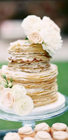 Garden Inspired Brunch Wedding at Arlington Hall ⋆ Ruffled Brunch Wedding, Wedding Desserts, Pancake Cake, Pancakes, Outdoor Dinner Parties, Dallas Wedding Photographers, Amazing Wedding Cakes, Blush And Gold, Rose Gold