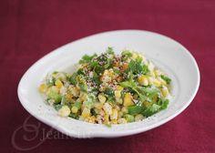 Light Mexican Corn Salad Recipe (Esquites) #SummerFest