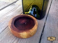 GC Creative Works Wine Bottle Art and Natural Wood Design Craft Wine Bottle Candle Holder, Wine Bottle Art, Candle Holders, Peoria Arizona, Arizona Usa, Mesquite Wood, Live Edge Wood, Italian Wine, Mortar And Pestle