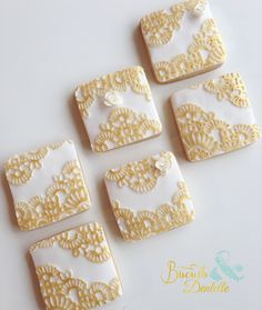 decorated lace and gold cookies
