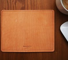 Leather Mouse Pad / The Leather Mouse Pad is handmade in Los Angeles, California from 8 oz vegetable tanned leather. http://thegadgetflow.com/portfolio/leather-mouse-pad-65/