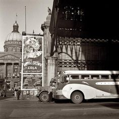 """""""Greyhound bus station in Indianapolis, September 1943."""""""