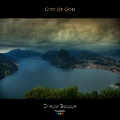 "Lugano - ""City of God"" City Of God, Lugano, Black Backgrounds, Switzerland, River, Photography, Outdoor, Outdoors, Photograph"