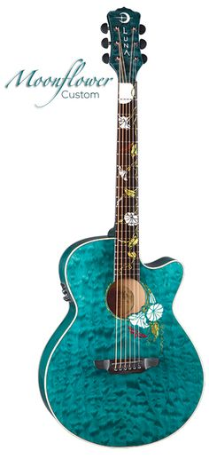 Luna Guitars - Flora Moonflower Custom - Wishlist - just entered to win, here's hoping!