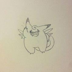 I'm the number one!!! #pokemon #clefable #fanart #characterdesign #nintendo #sketchbook #sketching #sketch #doodle #doodling #character #anime #manga #videogame #rpg #illustration #cartoon #metronome #fairy