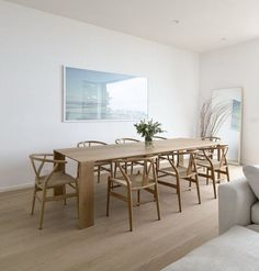 'The Kitch' Kitchen Remodel Pt The Design Oak Dining Room, Dining Room Lighting, White Oak Dining Table, Scandinavian Kitchen, Scandinavian Dining Table, Dining Table Design, Dining Room Inspiration, Best Dining, Small Dining