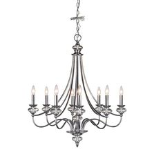 Home Decorators Collection Nottinghill Collection 8-Light Chrome Chandelier-21086-014 at The Home Depot $299