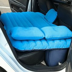 Top Selling Car Air Mattress Travel Bed Inflatable Mattress Air Bed Car Back Seat Cover Good Quality Inflatable Car Bed Bed Cushions, Blue Pillows, Sofa Pillows, Blue Bedding, Backseat Bed, Hot Cars, Google Drive, Inflatable Car Bed, Inflatable Bouncers