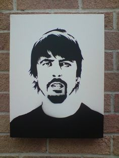 Dave Grohl Stencil Art by on deviantART Stencil Art, Stencils, Art Bin, Art Desk, Dave Grohl, Foo Fighters, Black And White Portraits, Famous Faces, Art Forms