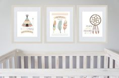 Baby Boys Tribal Indian Nursery Prints Set of 3  by MintImprint, $45.00