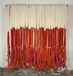 Discretionary Ligatures » textile art - Sheila Hicks & Fred Sandback