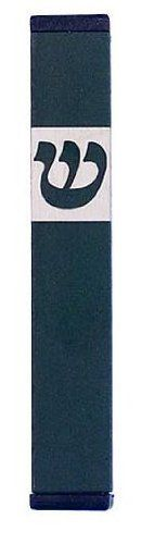 Green Modern Mezuzah with Classic Shin (12.7cm) by World of Judaica. $36.00. A classic shin sits upon a contemporary, clean mezuzah. Great fit for the simple, sleek designed house or workplace, yet still bold in its vibrant color! Rectangular in shape, this sharp mezuzah will bring a sleek touch to an ancient practice. Mark your door with a bold, new style marked with a classic shin on the top. Sure to protect any doorpost and remind us all of the mitzvoth of the mez...
