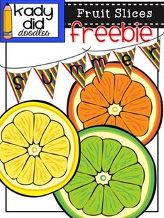 Enjoy a little slice of Summer with this Fruit Freebie set. It includes 4 color images:Orange, Lemon, Lime, and a Banner (3 flag, no word/letter)Please make sure you read my TOU once you open the file and I'd love it if you would leave feedback, too! Thanks!You can see my full version of this set   HEREThey will download as a zip file - .png images.These images can be used for personal and educational commercial use.
