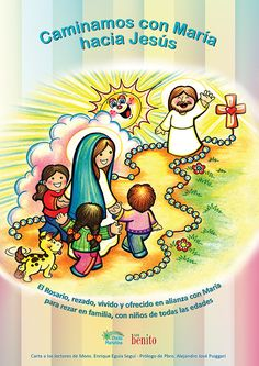 ¡Ahora si! Todos los Misterios del Rosario en colores, para rezar junto a los niños más pequeños, las oraciones y mucho más... lo podrán ...