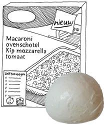 Macaroni ovenschotel kip mozzarella tomaat - zonder pakjes en zakjes