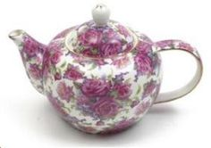 Maxwell & Williams Bone China - Royal Old England Collection, Teapot, Rose Berry Chintz