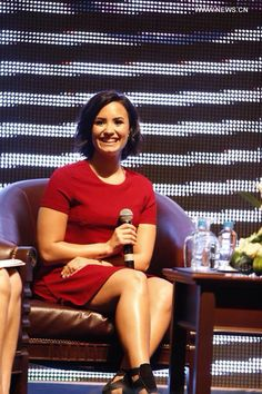 Demi Lovato at a Press conference in Phnom Penh, Cambodia - May 5th