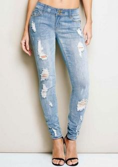 Milan Destructed Tall Skinny Jean