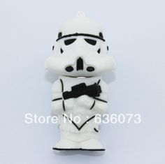 Wholesale! real Star Wars stormtrooper model 4gb/8gb/16gb/32gb usb 2.0 memory pen disk thumb/drive/gift  free shipping M3 $6.99 - 24.99