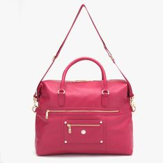 // Alice Tote in Pink Teaberry // #purse #ladies #fashion #tote #bag
