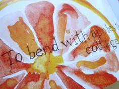 watercolor and text: Sarah Wade at rejectamenta photostream